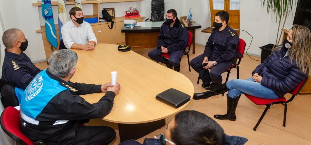 Biss se reunió con la Policía del Chubut para mejorar la seguridad pública
